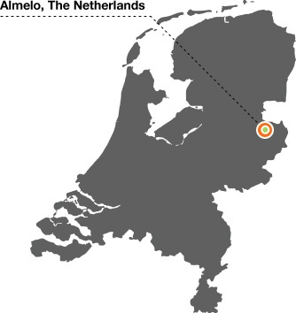 almelo-netherlands-map