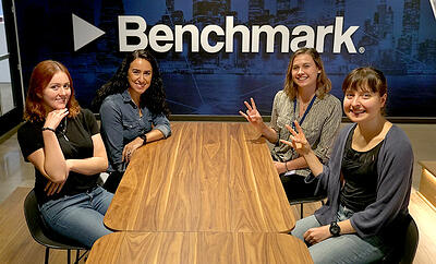 Engineers at Benchmark: Claudia Hill, Erin Hintze, Judith Rosenke & Celeste Bean