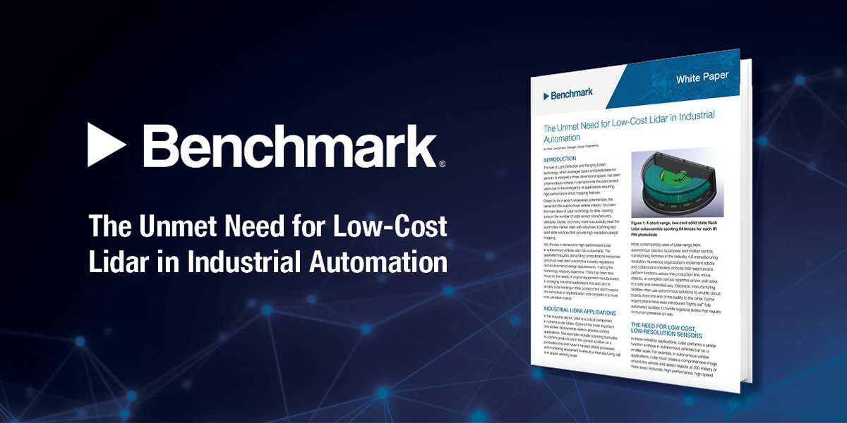 The Unmet Need for Low-Cost Lidar in Industrial Automation